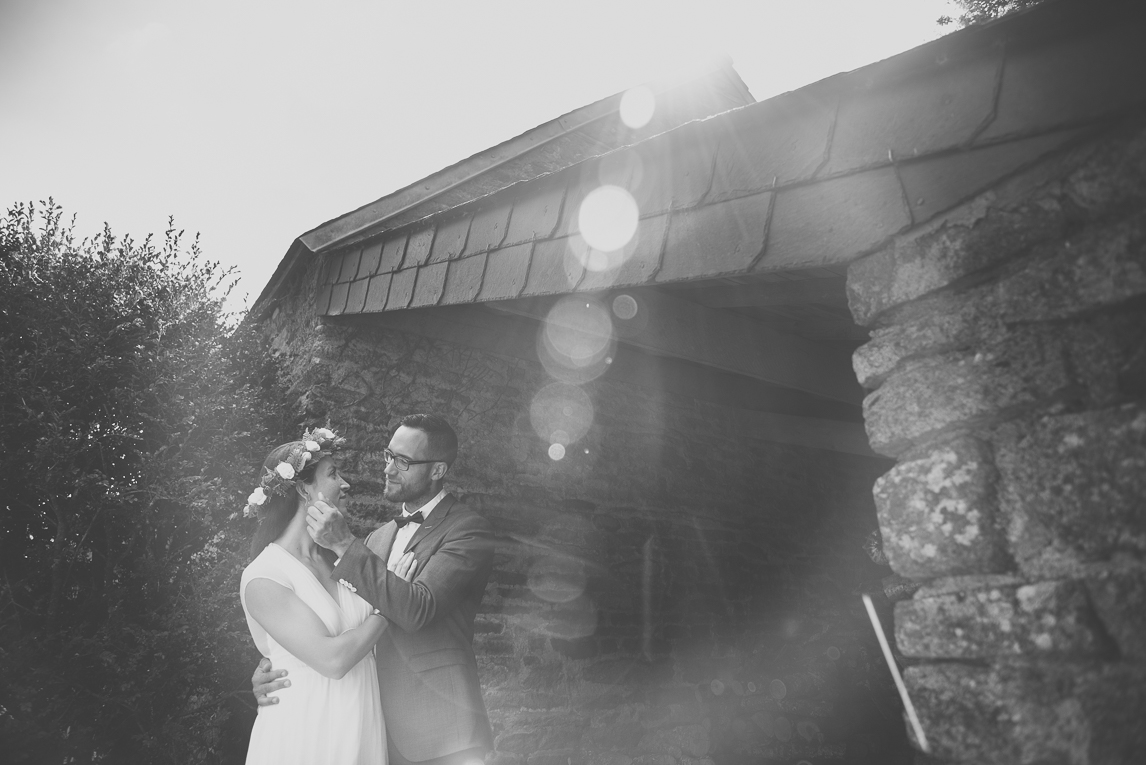 Wedding Photography Brittany - bride and groom enlighted - Wedding Photographer
