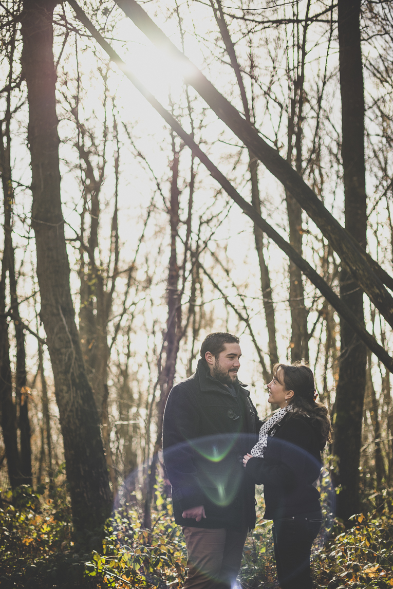 Couple session in the countryside - man and woman in the forest - Couple Photographer