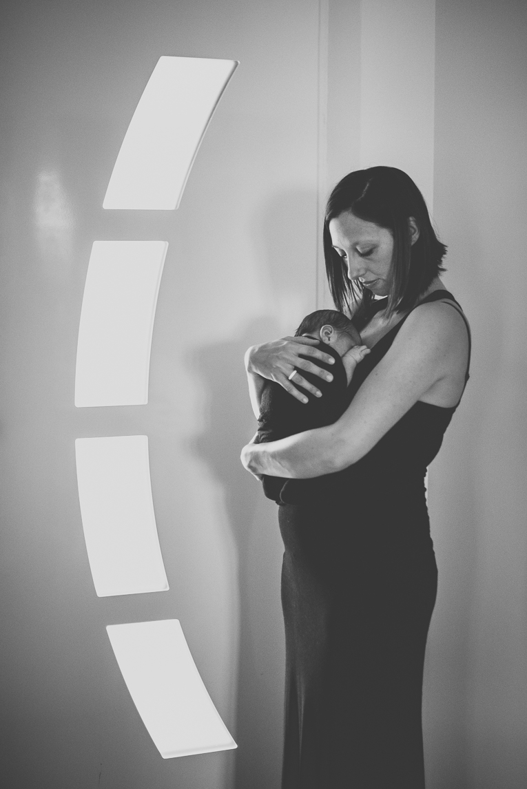 Newborn photo-shoot - `mum and her baby in her arms - Newborn Photographer