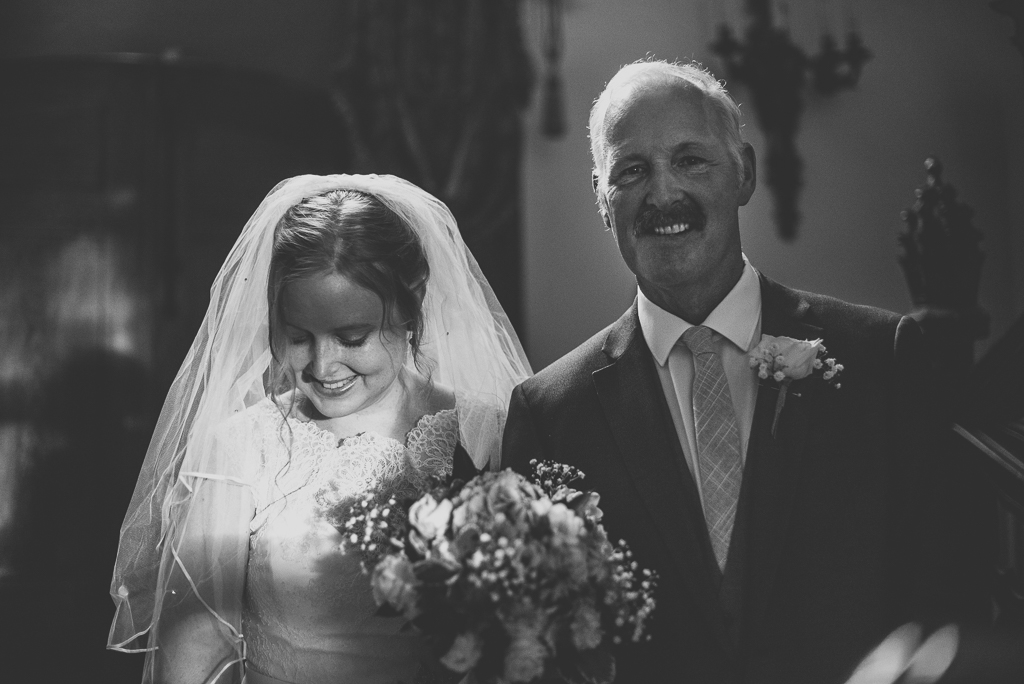 Wedding Photography French château - bride and her dad - Wedding Photographer