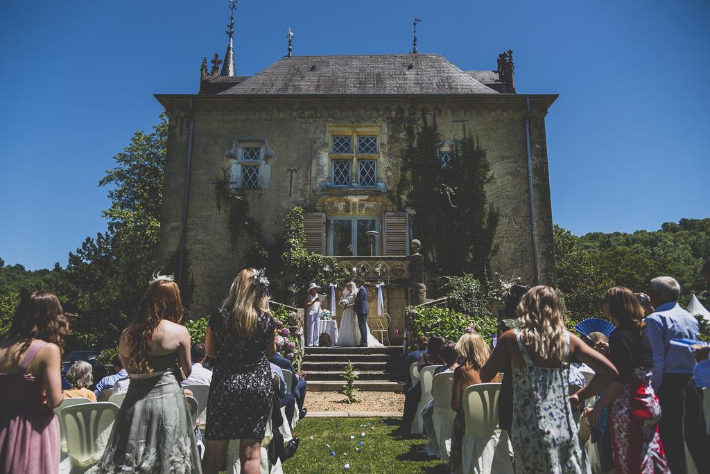 Reportage mariage château Hautes-Pyrénées - cérémonie de mariage - Photographe mariage