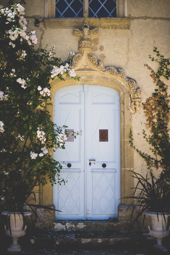 Wedding Photography French château - door of château - Wedding Photographer
