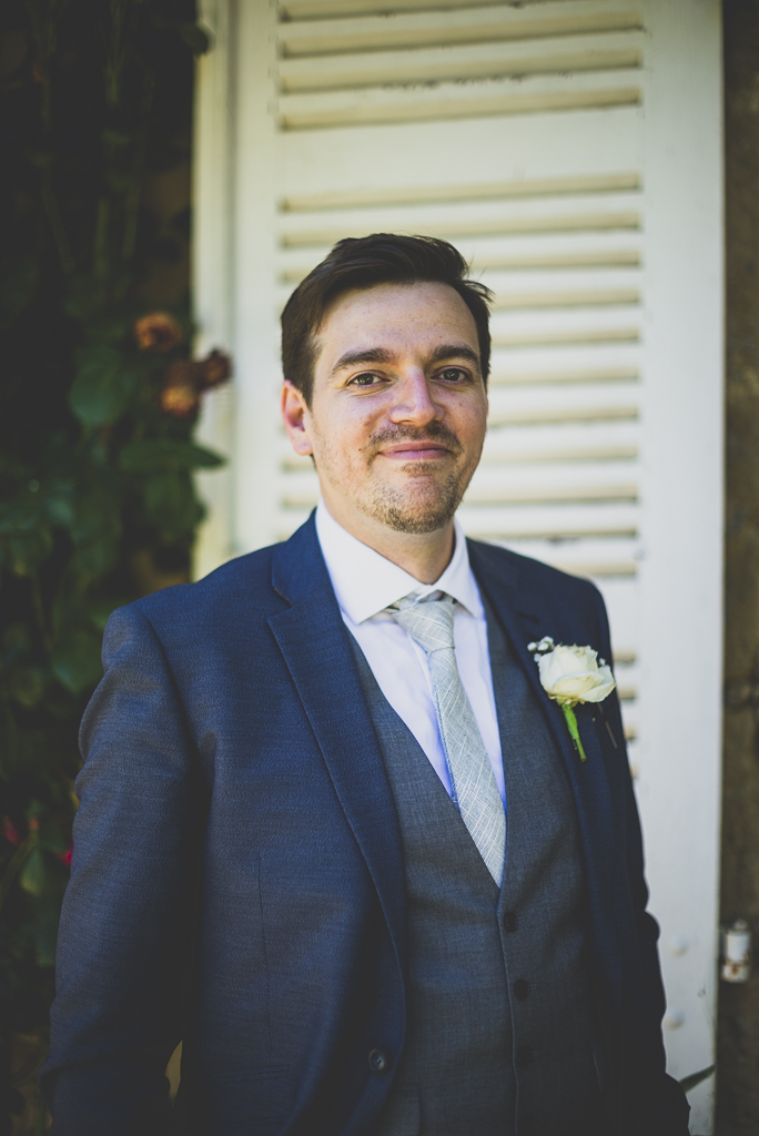 Wedding Photography French château - portrait of groom - Wedding Photographer