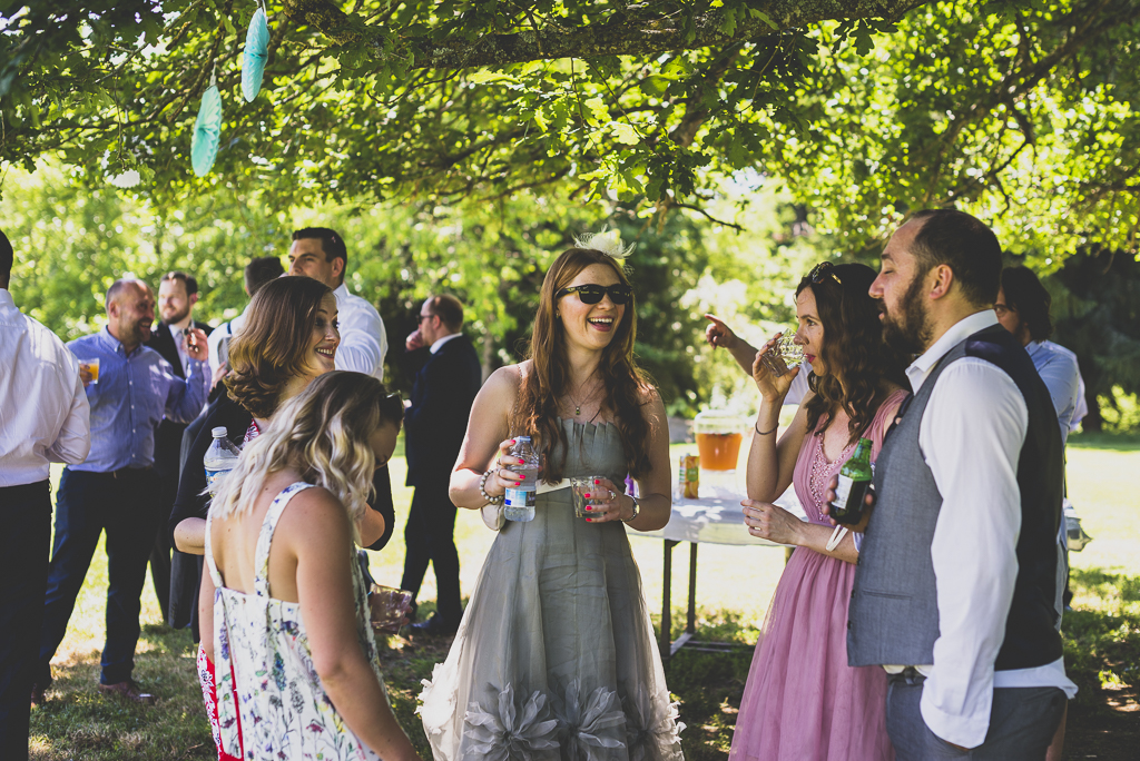 Wedding Photography French château - guests at reception - Wedding Photographer