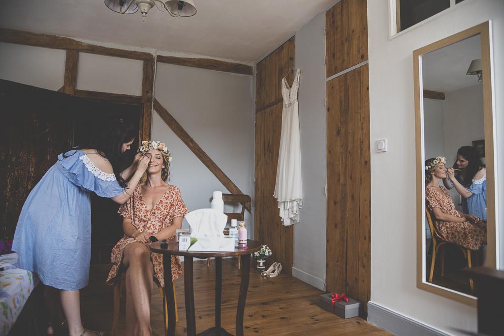 Reportage mariage Toulouse - maquillage de la mariée - Photographe mariage
