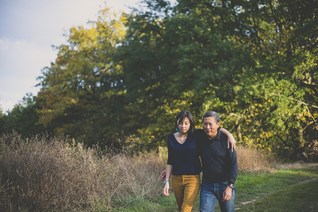 Outdoor family session - girl and her dad walking - Family Photographer