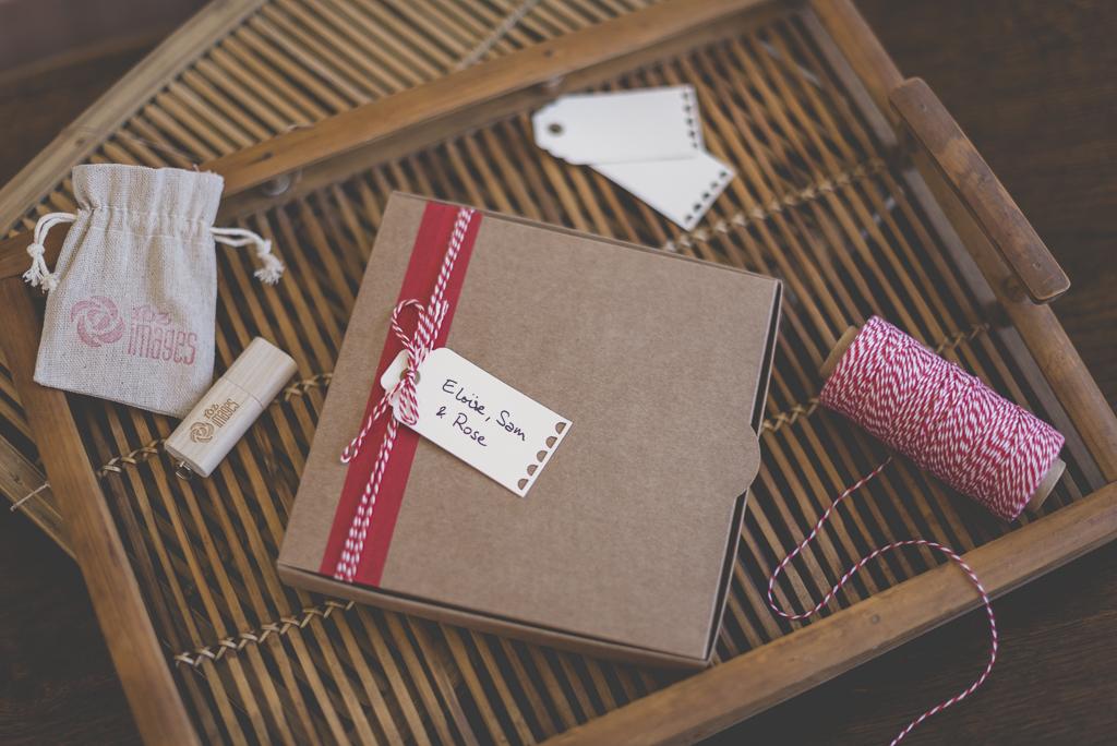 Nouveau packaging photographe cle usb tirages - boite kraft décorée et cle usb - Photographe Toulouse