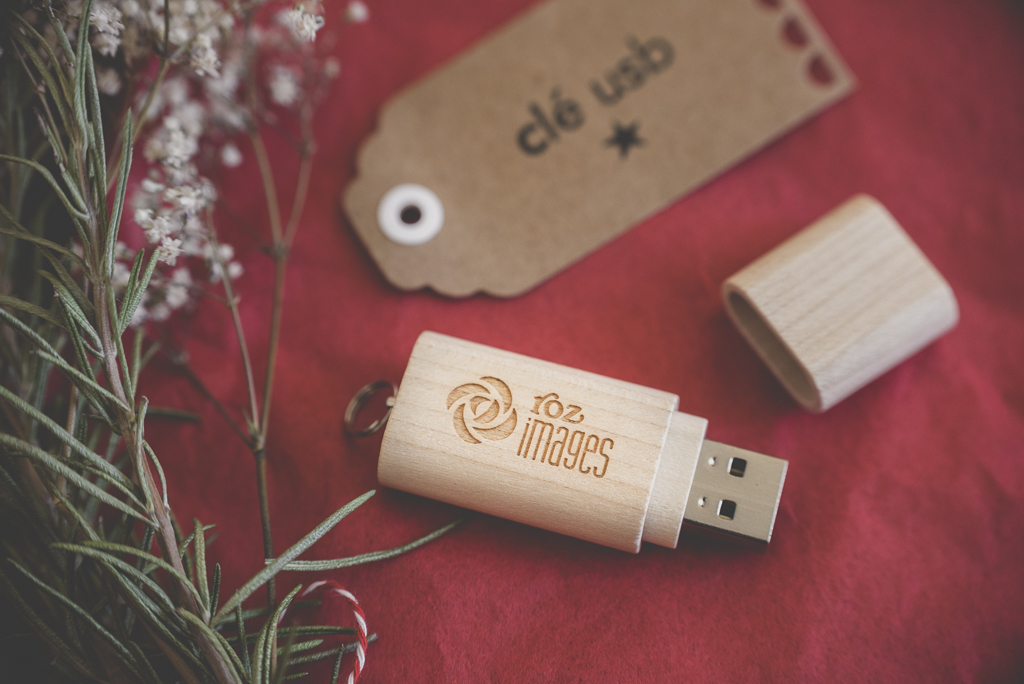 Nouveau packaging photographe cle usb tirages - cle usb en bois avec gravure - Photographe Toulouse