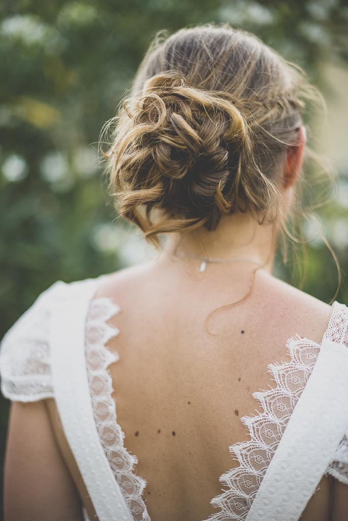Reportage mariage Haute-Garonne - dos de la mariée - Photographe mariage