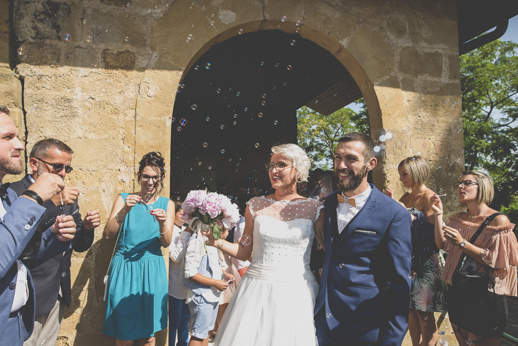 Wedding Photography Haute-Garonne - sortie d'église - Wedding Photographer Saint-Gaudens