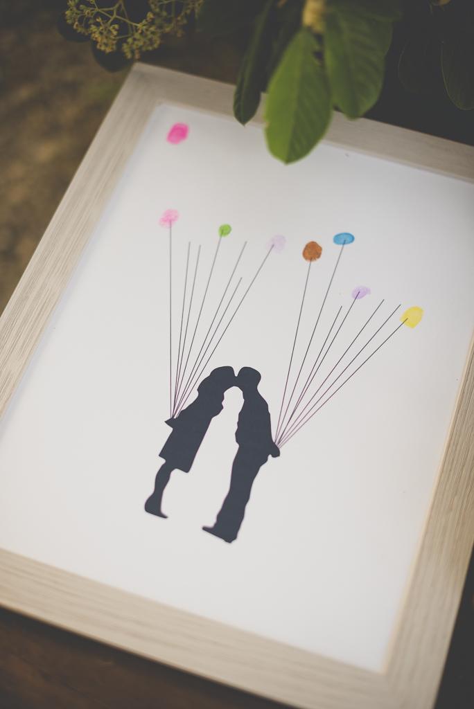Wedding Photography Haute-Garonne - dessin avec empreintes colorées de doigts - Wedding Photographer Saint-Gaudens
