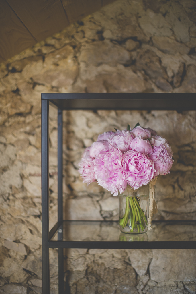 Wedding Photography Haute-Garonne - bouquet de pivoines roses - Wedding Photographer Saint-Gaudens