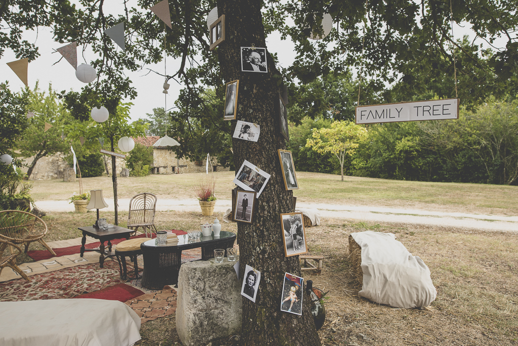 Reportage mariage Auch - décoration vintage et family tree - Photographe mariage Gers