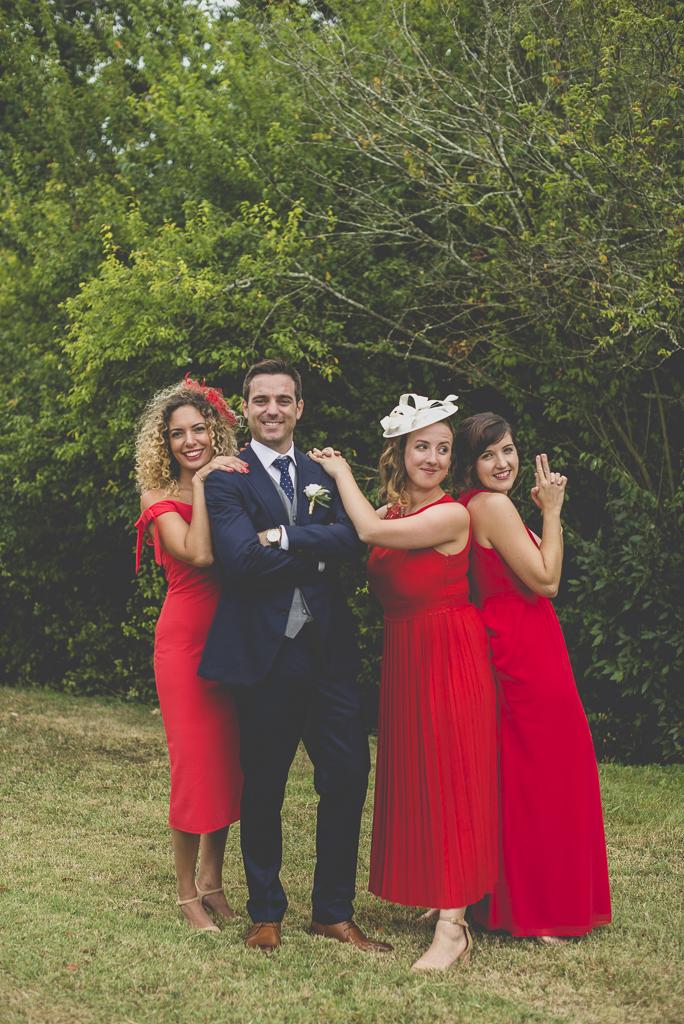 Reportage mariage Auch - Marié et demoiselles d'honneur - Photographe mariage Gers