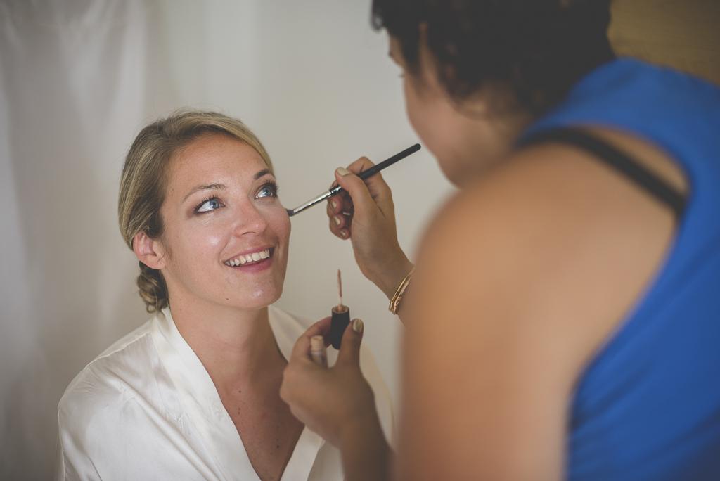 Reportage mariage Auch - Préparatifs de la mariée - maquillage - Photographe mariage Gers