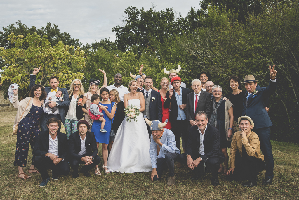 Reportage mariage Auch - Photo de groupe - Photographe mariage Gers