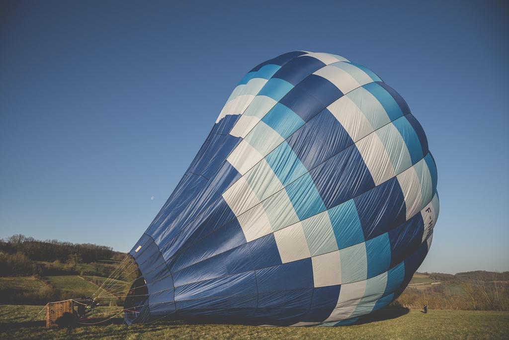 Photos vol montgolfière Haute-Garonne - gonflage du ballon - Photographe Toulouse