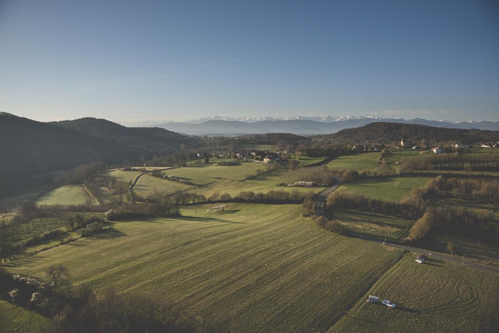 Photos vol montgolfière Haute-Garonne - champs et Pyrénées - Photographe Toulouse