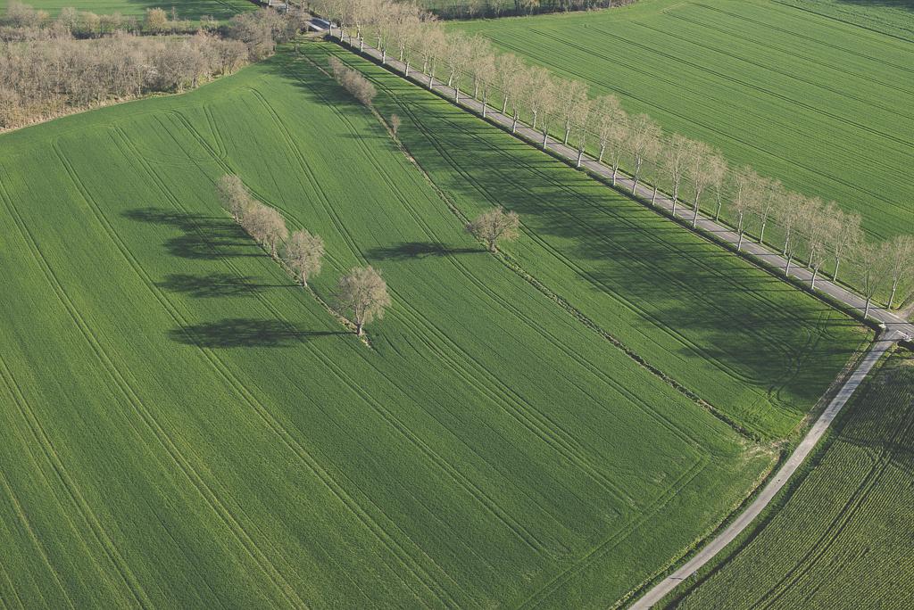 Photos vol montgolfière Haute-Garonne - champs et routes - Photographe Toulouse