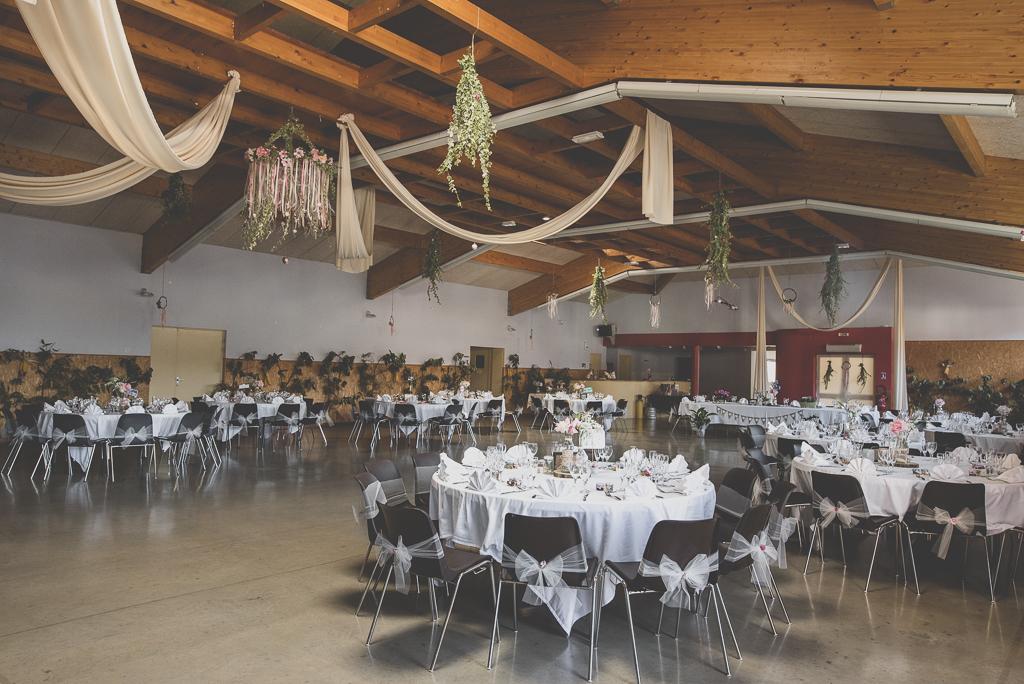 Reportage mariage automne Saint-Gaudens - décoration salle des fêtes Labarthe Inard - Photographe Saint-Gaudens