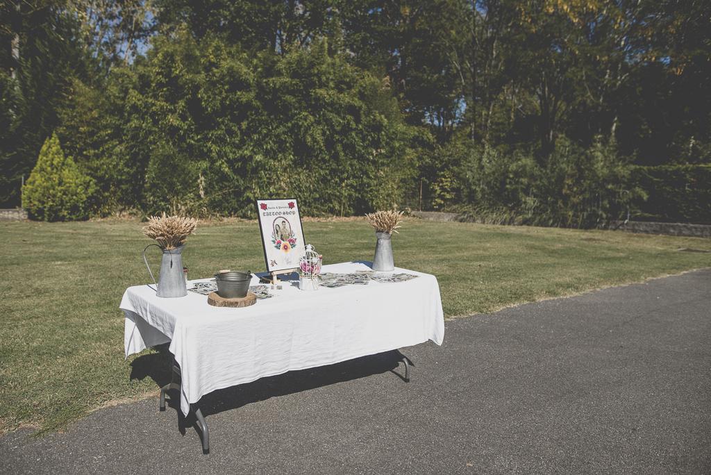 Reportage mariage automne Saint-Gaudens - stand de tatouages éphémères - Photographe Saint-Gaudens