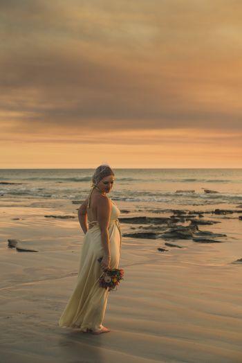 rozimages - photographie de mariage - mariée sur la plage - Broome, Australie
