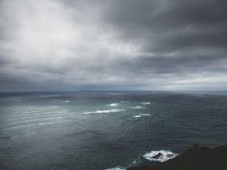 rozimages - photographie de voyage et de paysage - Mer et ciel noirs - Cape Reinga, North Island, Nouvelle Zélande