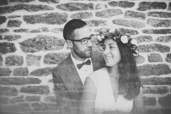 Reportage mariage Bretagne - Portrait des mariés - Photographe mariage